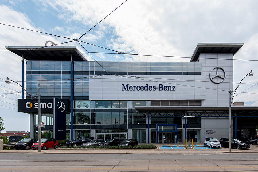 Mercedes benz downtown toronto holt construction for Mercedes benz downtown service
